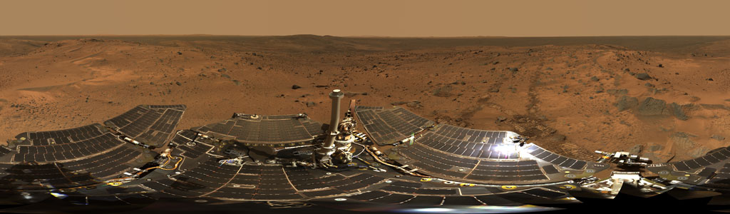 Mars surface panorama Spirit rover